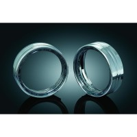 LED HALO PASSING LAMP TRIM RINGS CHROME - 7748