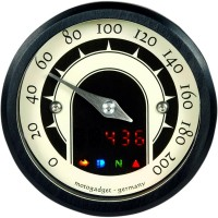 MST SPEEDSTER ANALOG SPEEDOMETER ANODIZED BLACK - 5001013