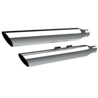 MUFFLERS 3 HP-PLUS SLIP-ON SLANT CUT CHROME - 202375