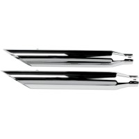 MUFFLERS 3 HP-PLUS SLIP-ON SLASH CUT CHROME - 202350