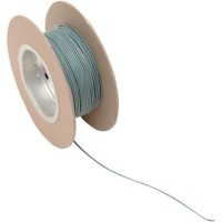 OEM COLOR WIRE 18 GAUGE/100' (1MM'/30M) GREY/GREEN - NWR-85-100