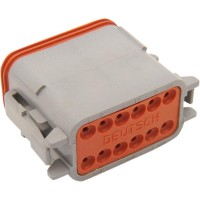 PLUG DEUTSCH DT-SERIES 12-SOCKET GREY - DP-12G