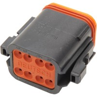 PLUG DEUTSCH DT-SERIES 8-SOCKET BLACK - DP-8B