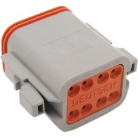 PLUG DEUTSCH DT-SERIES 8-SOCKET GREY - DP-8G