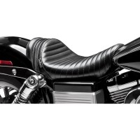 SEAT STUBS SPOILER SOLO TUCK & ROLL BLACK W/BLACK STRIPES - LK-411BLK