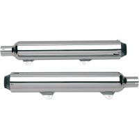 SLIP-ON MUFFLERS; STANDARD CORE; CHROME - 128-78030