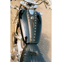TANK BIB CRUISER VINYL CUSTOM REPLACEMENT CONCHOS | STUDDED BLACK - 93106