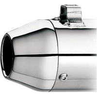 TAPERED END CAP FOR SLIP-ONS/SYSTEM/SUPERTRAPP SE; CHROME - 108-7257