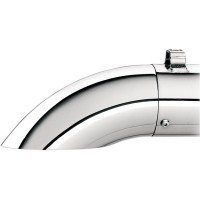 TURNDOWN/OUT 90° ROTATABLE END CAP FOR SLIP-ONS/SYSTEM/SUPERTRAPP SE; CHROME - 108-8022