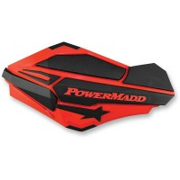 HANDGUARDS RED/BLK POL - 34402