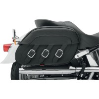 SADDLEBAG SPECIFIC FIT RIGID MOUNT SYNTHETIC LEATHER