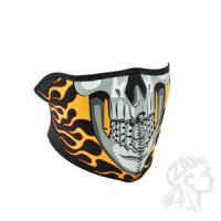 BURNING SKULL HALF FACE MASK ONE SIZE - WNFM061H