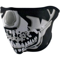 CHROME SKULL HALF FACE MASK ONE SIZE - WNFM023H