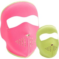 FULL FACE MASK ONE SIZE SOLID PINK/LIME - WNFM401