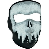 GLOW-IN-THE-DARK GRAY SKULL FULL FACE MASK ONE SIZE - WNFM081G