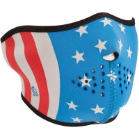 GLOW-IN-THE-DARK STARS AND STRIPES HALF FACE MASK ONE SIZE - WNFM176HG