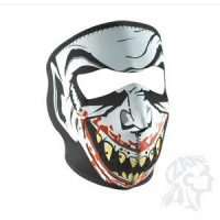 GLOW-IN-THE-DARK VAMPIRE FULL FACE MASK ONE SIZE - WNFM067G