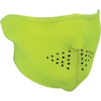 HALF FACE MASK ONE SIZE SOLID HIGH-VIS LIME - WNFM142LH