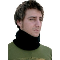 NECK GAITER COZY FLEECE ONE SIZE SOLID BLACK - WFMFN114