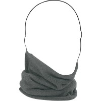 NECK GAITER COZY FLEECE ONE SIZE SOLID CHARCOAL GRAY/HIGH-VIS LIME - WFMFN001HV