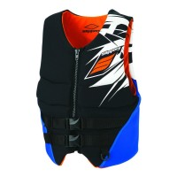 REV BUOYANCY VEST BLACK/ORANGE X-SMALL - 98713991