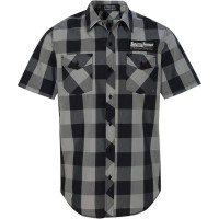 SHOP SHIRT GREY PLAID SM - TT627S93BGSR
