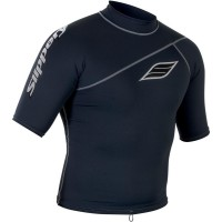 SHORT-SLEEVE LYCRA® RASHGUARD BLACK SMALL - 3250-0111