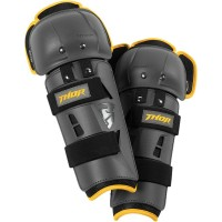 YOUTH SECTOR GP KNEE GUARD CHARCOAL/YELLOW ONE SIZE - 2704-0430