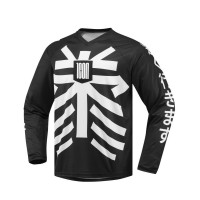 LUCKYTIME™ LONG SLEEVE JERSEY BLACK/WHITE X-LARGE - 2824-0035