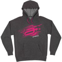 WOMENS S8W SWASH HOODY CARBON/PINK LARGE - 3051-0973