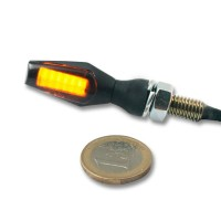 COB-LED SMOKE - LENS TURN SIGNAL / ZINC ALLOY / BLACK - 012439812