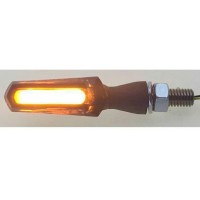 COB-LED SMOKE - LENS TURN SIGNAL / ZINC ALLOY / BLACK - 012549012