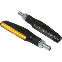 LED CLEAR - LENS TURN SIGNAL / ABS / BLACK - 011950411