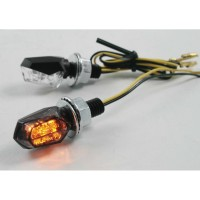 LED CLEAR - LENS TURN SIGNAL / ABS / BLACK - 012086911
