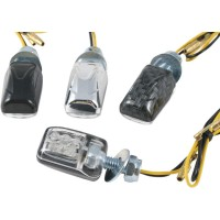 LED CLEAR - LENS TURN SIGNAL / BLACK - 01165991