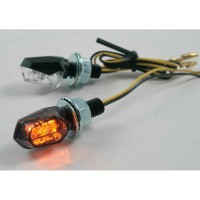 LED SMOKE - LENS TURN SIGNAL / ABS / BLACK - 012086921