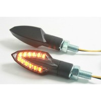LED SMOKE - LENS TURN SIGNAL / ABS / BLACK - 01214201121