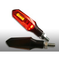LED TAIL LIGHT & TURN SIGNAL / CLEAR LENS / BLACK - 012421111