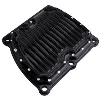 COVER TRANS MILWAUKEE 8 DIMPLED BLACK - C1373-B