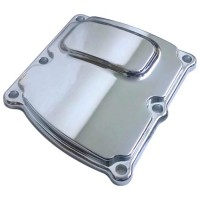 COVER TRANS MILWAUKEE 8 SMOOTH CHROME - C1372-C