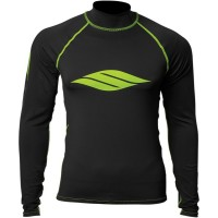 LONG-SLEEVE S17 LYCRA® RASHGUARD BLACK/LIME X-SMALL - 3250-0122