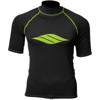 SHORT-SLEEVE S17 LYCRA® RASHGUARD BLACK/LIME X-SMALL - 3250-0116