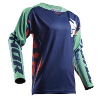 FUSE™ RAMPANT S8 OFFROAD JERSEY NAVY/TEAL LARGE - 2910-4315