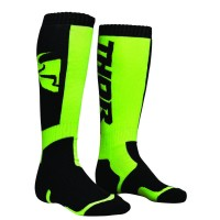 MX S8 LONG SOCK BLACK/LIME 6-9 - 3431-0375