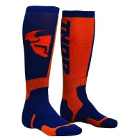 MX S8 LONG SOCK NAVY/ORANGE 6-9 - 3431-0377