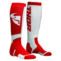 MX S8 LONG SOCK RED/WHITE 10-13 - 3431-0380