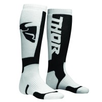MX S8 LONG SOCK WHITE/BLACK 6-9 - 3431-0381