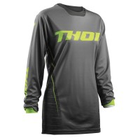 WOMENS PULSE™ DASHE S8W OFFROAD JERSEY GRAY/LIME LARGE - 2911-0155
