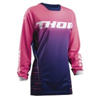 WOMENS PULSE™ DASHE S8W OFFROAD JERSEY NAVY/PINK LARGE - 2911-0160