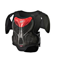YOUTH A-5 S BODY ARMOR BLACK/RED S/M - 6740518-131-SM